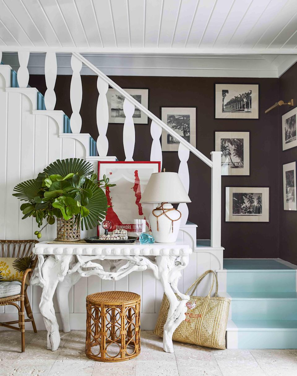 """<p>Painting the stairs is a whimsical, exciting way to bring some color and flair to your home. If you're timid when it comes to committing to a <a href=""""https://www.veranda.com/decorating-ideas/color-ideas/g27506650/living-room-paint-colors/"""" rel=""""nofollow noopener"""" target=""""_blank"""" data-ylk=""""slk:bold wall color"""" class=""""link rapid-noclick-resp"""">bold wall color</a>, taking your <a href=""""https://www.veranda.com/home-decorators/g28539782/blue-paint-colors/"""" rel=""""nofollow noopener"""" target=""""_blank"""" data-ylk=""""slk:favorite blue hues"""" class=""""link rapid-noclick-resp"""">favorite blue hues</a> and <a href=""""https://www.veranda.com/decorating-ideas/g34633084/green-paint-colors/"""" rel=""""nofollow noopener"""" target=""""_blank"""" data-ylk=""""slk:lush green shades"""" class=""""link rapid-noclick-resp"""">lush green shades</a> to the stairs is a nice way to bring in a non-neutral color in a restrained way. While choosing the right paint color (or colors!) for your stairs may seem intimidating, we've reached out to the pros to offer inspiration from some of their favorite projects. From Annie Sloan's dreamy countryside home in Oxford, England to <a href=""""https://www.veranda.com/decorating-ideas/house-tours/a32721431/matthew-carter-harbour-island-cottage/"""" rel=""""nofollow noopener"""" target=""""_blank"""" data-ylk=""""slk:Matthew Carter's chic Bahamian cottage"""" class=""""link rapid-noclick-resp"""">Matthew Carter's chic Bahamian cottage</a>, here are the colors we love most for achieving beautiful painted stairs. </p>"""