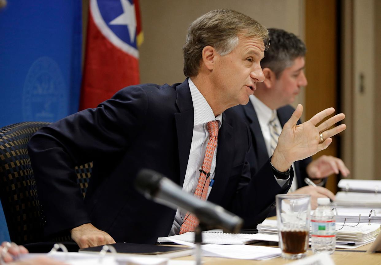 "Gov. Haslam says he will consider a Tennessee plan to secretly arm and train some teachers, <a href=""http://tpmdc.talkingpointsmemo.com/2012/12/tennessee-armed-teachers.php"" rel=""nofollow noopener"" target=""_blank"" data-ylk=""slk:TPM reports"" class=""link rapid-noclick-resp"">TPM reports</a>. The legislation will be introduced by State Sen. Frank Niceley (R) next month. ""Say some madman comes in. The first person he would probably try to take out was the resource officer. But if he doesn't know which teacher has training, then he wouldn't know which one had [a gun],"" Niceley told TPM. ""These guys are obviously cowards anyway and if someone starts shooting back, they're going to take cover, maybe go ahead and commit suicide like most of them have."""