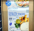 "<p>Fremont's meal kit comes with all the ingredients you need to make eight restaurant-quality fish tacos in just 20 minutes. Even more amazing, this family meal in a box is just $9.99. Is it any mystery that Aldi lovers want to make ""<a href=""https://www.instagram.com/p/B_U-7u7BUnF/"" rel=""nofollow noopener"" target=""_blank"" data-ylk=""slk:Taco Tuesday&quot; every day of the week now"" class=""link rapid-noclick-resp"">Taco Tuesday"" every day of the week now</a>? </p>"