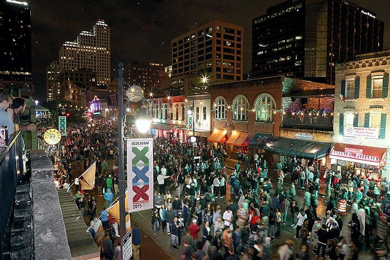Downtown Austin during the South By Southwest Music Festival. Photo: Getty