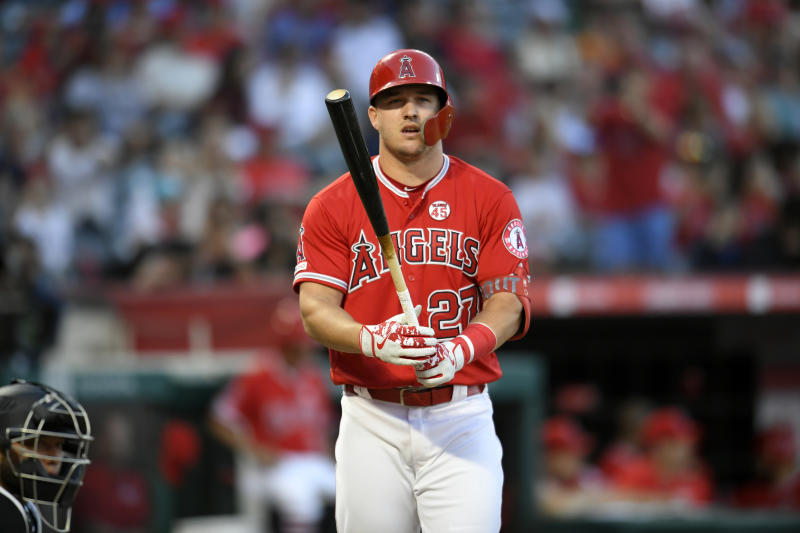 Mike Trout is among the fantasy studs who also have great plate discipline. (Photo by John McCoy/Getty Images)