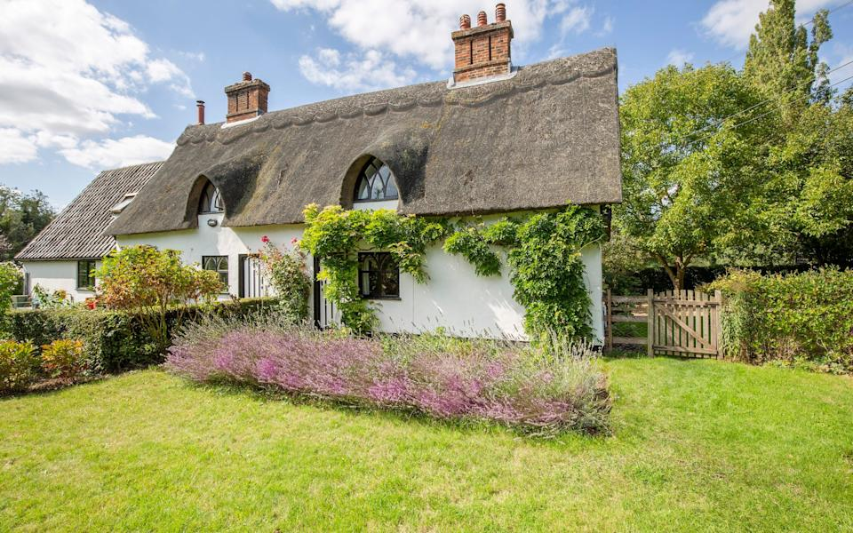 May Cottage near Bergh Apton in Norfolk is thatched. It is £375,000 with Durrants