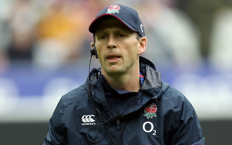 Simon Amor, England coach looks on prior to the 2020 Guinness Six Nations match between France and England at Stade de France on February 02, 2020 in Paris. - GETTY IMAGES