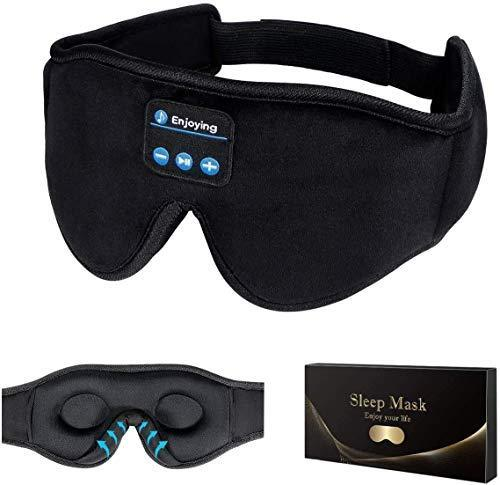 Sleep Headphones,3D Sleep Mask Bluetooth 5.0 Wireless Music Eye Mask, LC-dolida Sleeping Headph…