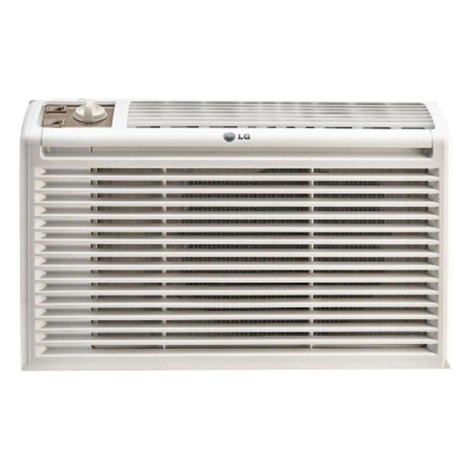 "This air conditioner is ideal for small spaces and includes two cooling and two fan speeds. It has a 4.2-star rating across more than 600 reviews. <a href=""https://fave.co/2W9XxqZ"" rel=""nofollow noopener"" target=""_blank"" data-ylk=""slk:Find it for $149 at Home Depot"" class=""link rapid-noclick-resp"">Find it for $149 at Home Depot</a>."