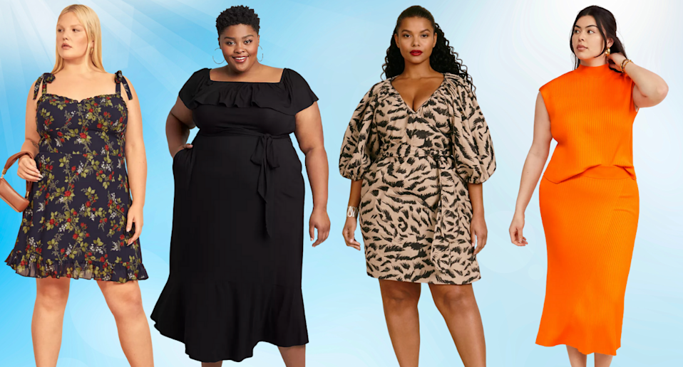 16 plus-size summer dresses that are perfect for wedding season (Photo via Reformation, Lane Bryant, 11 Honoré & Anthropologie)