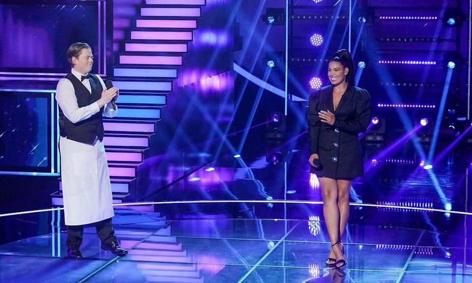 """<p>Jordin Sparks lost 50 pounds in 18 months after snagging the <em>American Idol</em> title. She explained to <a href=""""https://www.redbookmag.com/body/health-fitness/interviews/g587/jordin-sparks-weight-loss-tips/?slide=1"""" rel=""""nofollow noopener"""" target=""""_blank"""" data-ylk=""""slk:Redbook"""" class=""""link rapid-noclick-resp""""><em>Redbook</em></a> that it came down to focusing on healthier choices rather than trying to become a certain size. She started <a href=""""https://www.prevention.com/fitness/a20461055/power-walking-to-blast-fat/"""" rel=""""nofollow noopener"""" target=""""_blank"""" data-ylk=""""slk:walking"""" class=""""link rapid-noclick-resp"""">walking</a> more (and eventually started exercising with a trainer) and keeping an eye on portion sizes.</p>"""
