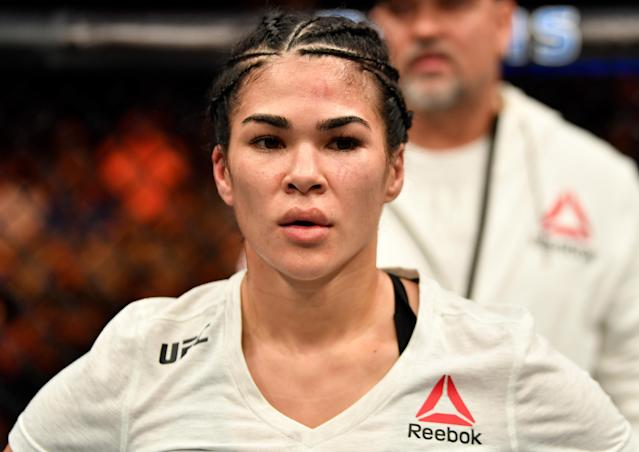 UFC fighter Rachael Ostovich was injured and hospitalized after an aleged domestic violence attack in Honolulu. (Getty Images)