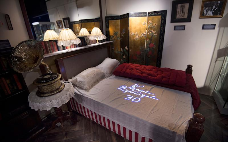 A mock-up of Florence Nightingale's bedroom at the museum dedicated to her