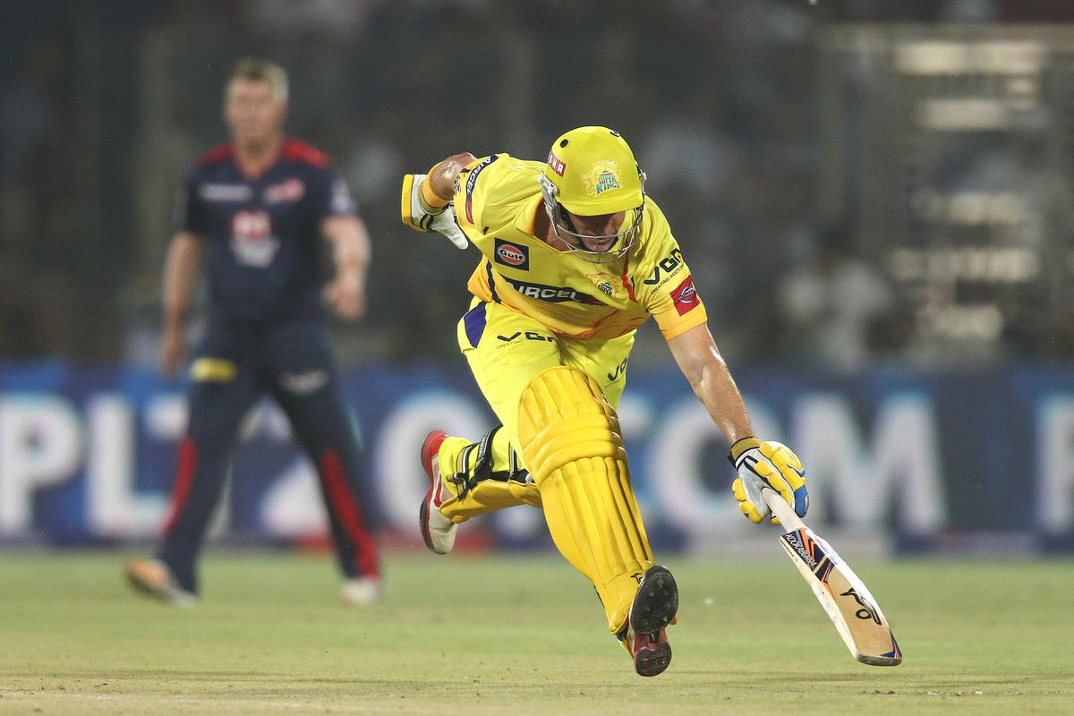 Michael Hussey of Chennai Super Kings scrambles to make his ground during match 24 of the Pepsi Indian Premier League between The Delhi Daredevils and the Chennai Superkings held at the Feroz Shah Kotla Stadium, Delhi on the 18th April 2013..Photo by Shaun Roy-IPL-SPORTZPICS  ..Use of this image is subject to the terms and conditions as outlined by the BCCI. These terms can be found by following this link:..https://ec.yimg.com/ec?url=http%3a%2f%2fwww.sportzpics.co.za%2fimage%2fI0000SoRagM2cIEc&t=1503047852&sig=UDKxPXwPwh1DsPR2lnZKtw--~D