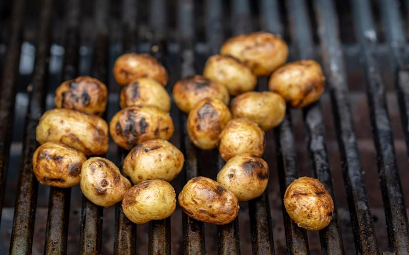 Late-season potatoes are great barbecued with some putter and paprika - Andrew Crowley