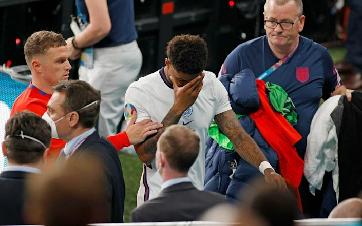 Rashford was one of three England players who missed penalties on Sunday night - REUTERS