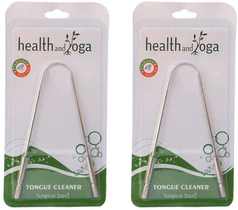 Surgical Grade Stainless Steel Tongue Cleaner. (Image via Amazon)