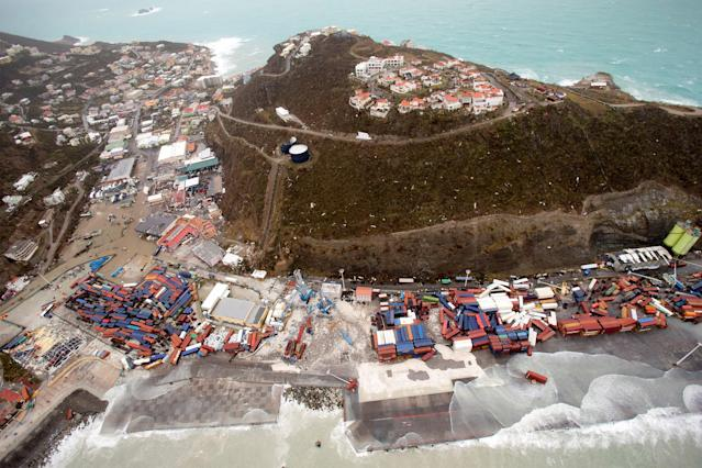 <p>View of the aftermath of Hurricane Irma on St. Maarten Dutch part of Saint Martin island in the Carribean, Sept. 6, 2017. (Photo: Netherlands Ministry of Defence/Handout via Reuters) </p>