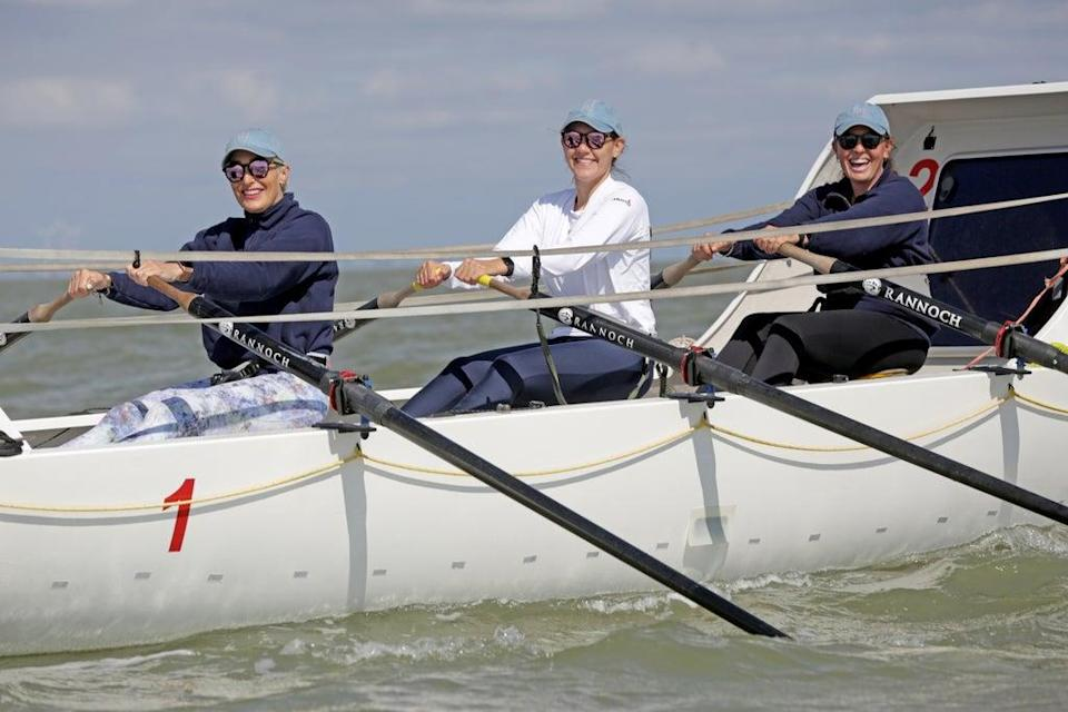 The team preparing to take part in the the Talisker Whisky Atlantic Challenge (Cancer Research UK/PA) (PA Media)