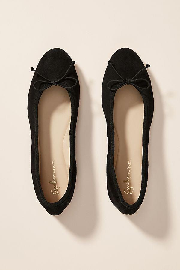 """<p>These simple and chic <a href=""""https://www.popsugar.com/buy/Mirabelle-Ballet-Flats-537583?p_name=Mirabelle%20Ballet%20Flats&retailer=anthropologie.com&pid=537583&price=100&evar1=fab%3Aus&evar9=47081143&evar98=https%3A%2F%2Fwww.popsugar.com%2Ffashion%2Fphoto-gallery%2F47081143%2Fimage%2F47081164%2FMirabelle-Ballet-Flats&list1=shopping%2Cshoes%2Cflats%2Cbest%20of%202020&prop13=api&pdata=1"""" rel=""""nofollow"""" data-shoppable-link=""""1"""" target=""""_blank"""" class=""""ga-track"""" data-ga-category=""""Related"""" data-ga-label=""""https://www.anthropologie.com/shop/mirabelle-ballet-flats?category=shoes-flats&amp;color=001&amp;quantity=1&amp;type=STANDARD"""" data-ga-action=""""In-Line Links"""">Mirabelle Ballet Flats</a> ($100) come in several other color choices, too.</p>"""