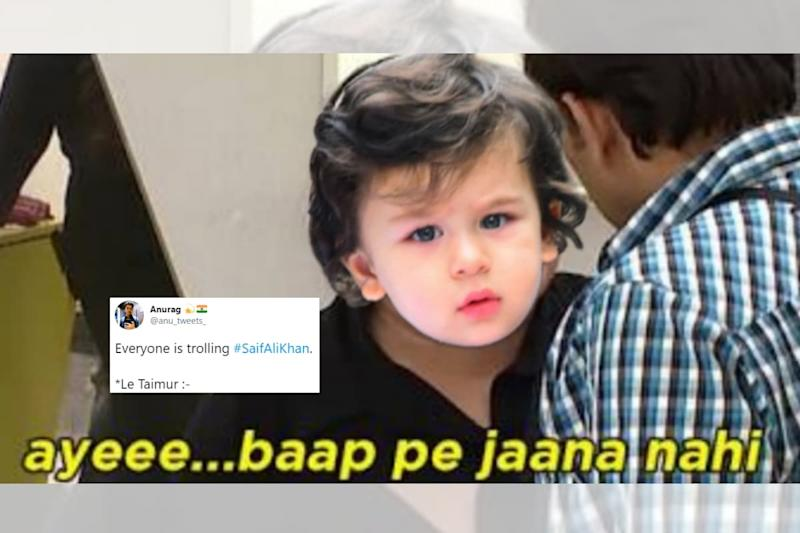 Taimur 'Hits Back' at Trolls After Father Saif Ali Khan's Upcoming Autobiography Mocked Online