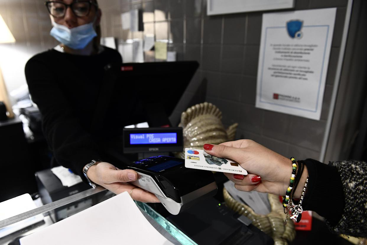 Cards now constitute more than 80% of UK retail sales. Photo: Reuters