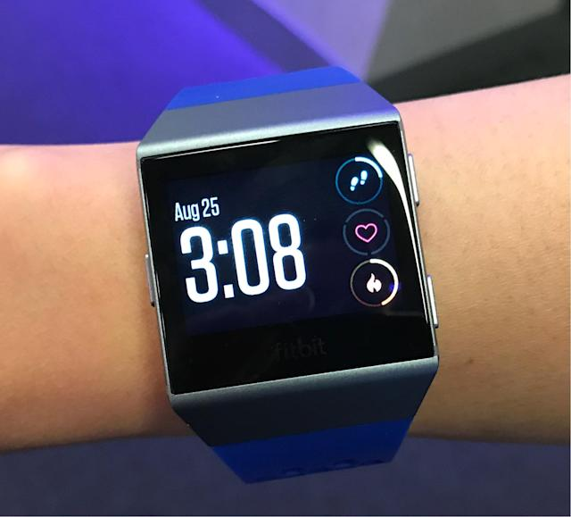 The Ionic will look a bit out of place on people with smaller wrists.