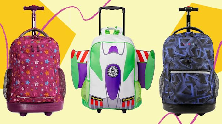 The kiddos will be on a roll with these rolling backpacks you can find on Amazon. (Photo: Amazon)