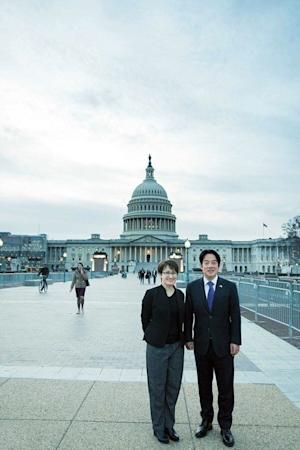 Hsiao accompanies vice-president elect William Lai to Washington in February. Photo: Facebook