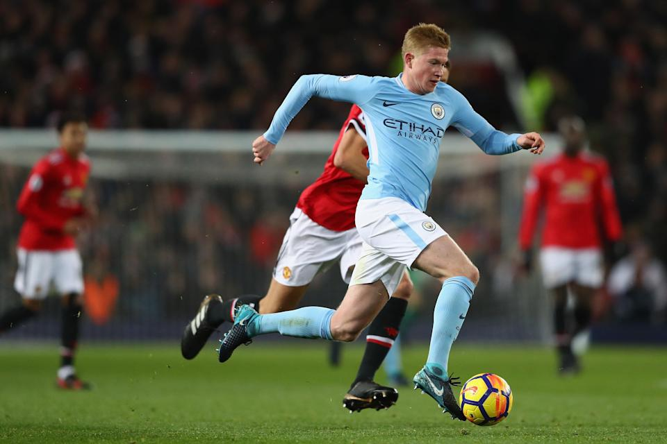 Kevin De Bruyne and Manchester City have run away from the rest of the Premier League. (Getty)