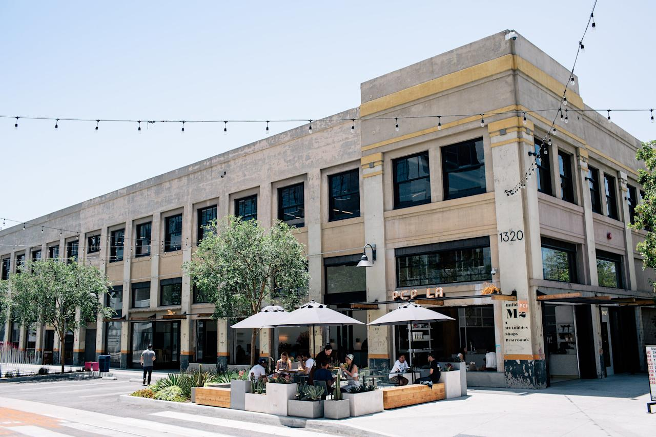 <p><strong>What's to see here?</strong><br> Housed in a former American Apparel manufacturing facility, the ROW DTLA is a massive development with offices, restaurants, shops, bars, and events spaces. It's a great way to get a taste of L.A.'s creative community in one fell swoop.</p> <p><strong>What do they sell?</strong><br> You'll find some of the most artful bento boxes outside Japan (at Hayato), a Tartine carb fix (at The Manufactory), and gluten-free karaage (at Pikunico). For shopping, there's the homegrown design boutique Poketo, Still Life Ceramics, and Yolk. And every Sunday, the complex hosts Smorgasburg, a weekly street-food festival with some of the best artisan eats in the city.</p> <p><strong>If we're looking to treat ourselves, where should we go?</strong><br> Shell out for a dozen oysters and a bottle of rosé at Rappahannock, then visit OAK NYC, Poketo, or Dover Street Market to do some serious retail damage. Finish with an omakase dinner at Hayato.</p> <p><strong>How about a more restrained afternoon?</strong><br> Go for a karaage sandwich at Pikunico; a cute, locally made tchotchke at Poketo; and a latte at PCP.</p> <p><strong>Who else is here?</strong><br> Staffers from Shopify and the brand offices, as well as destination diners looking to get a taste of Tartine.</p> <p><strong>Overall impressions?</strong><br> You'll be struck by the sheer size and scope of The Manufactory, as well the vast parking lot—a real blessing in L.A.—which happens to be topped with a rooftop garden.</p>