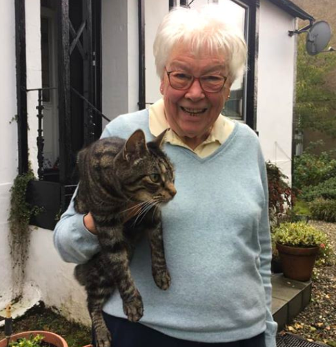 Can't be tied down: His owner Mrs Royal has tried to keep him indoors but it doesn't go well