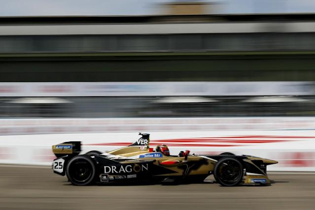 Championship leader Jean-Eric Vergne set the fastest lap across the two practice sessions ahead of the Berlin Formula E race, heading the times from Mahindra Racing's Felix Rosenqvist