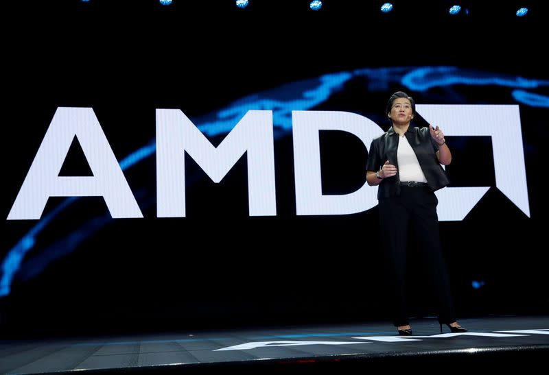 FILE PHOTO: Lisa Su, president and CEO of AMD, gives a keynote address during the 2019 CES in Las Vegas