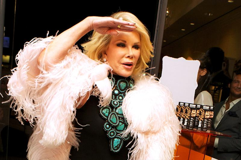 Joan Rivers attends Benefit Cosmetics & Joan Rivers Host The E! Fashion Police Fashion Week Wrap Party at Benefit Boutique Soho on September 12, 2012 in New York City.  (Jeff Schear via Getty Images)
