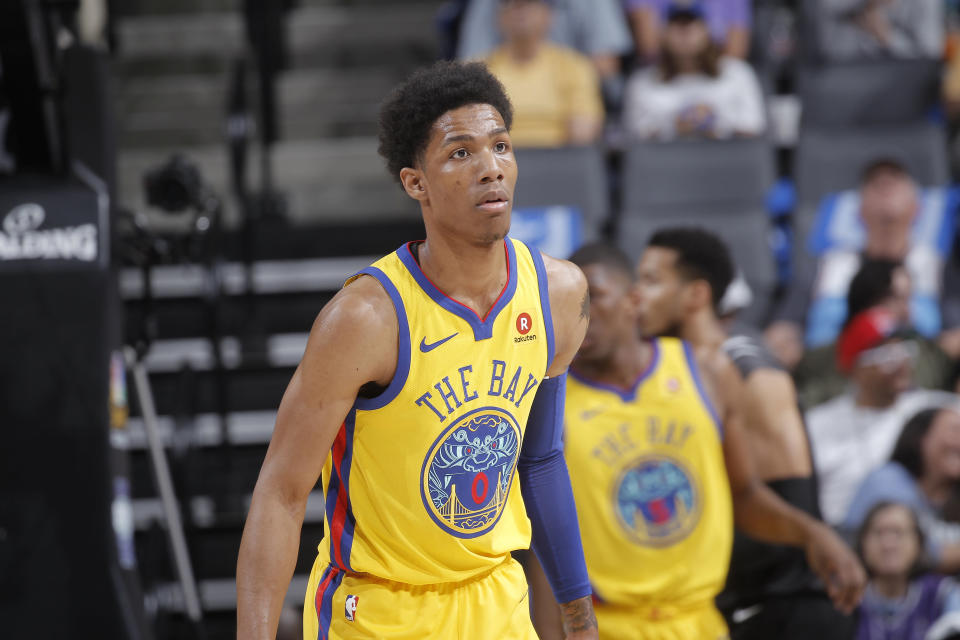Patrick McCaw has career averages of four points and 1.4 rebounds per game. (Getty Images)