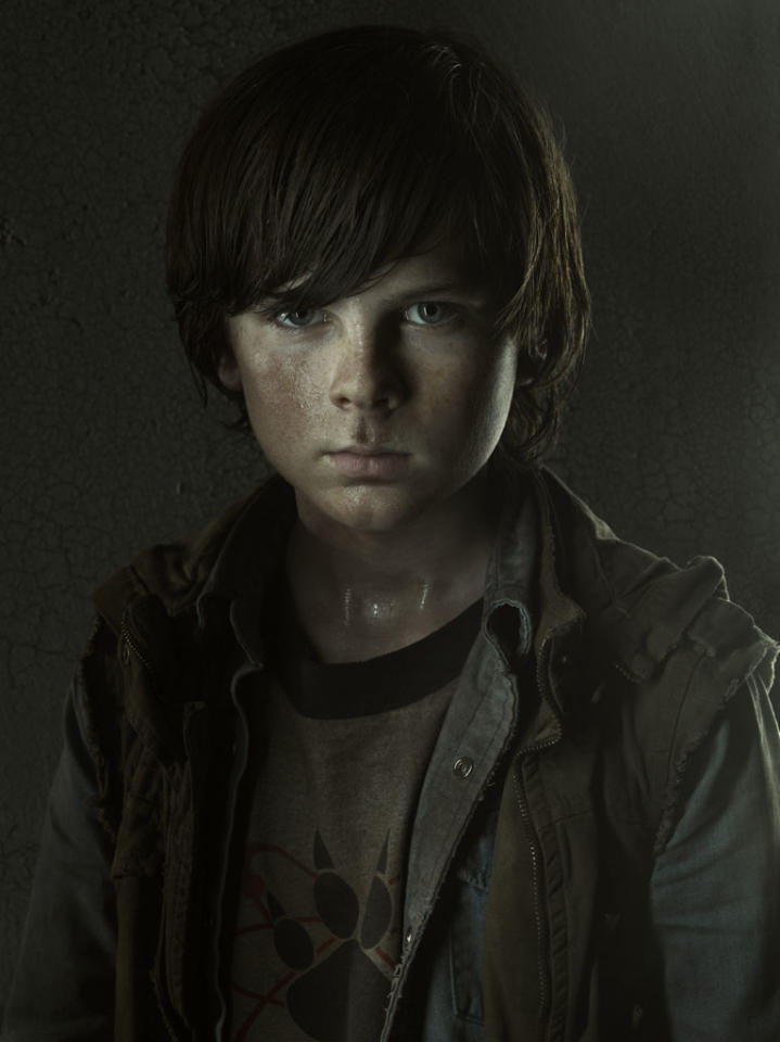 Carl Grimes (Chandler Riggs) - The Walking Dead - Gallery Photography - PHoto Credit: Frank Ockenfels/AMC