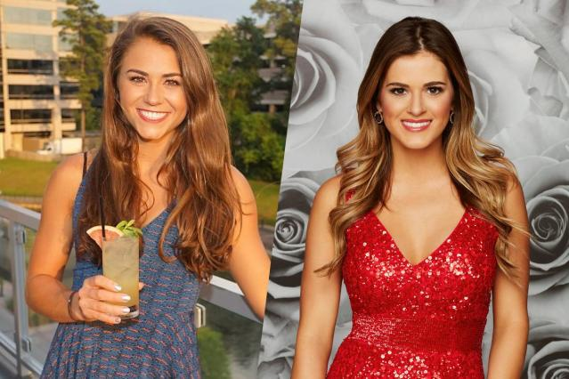 <p>American diver Kassidy Cook (left) and The Bachelorette Jojo Fletcher (right). </p>