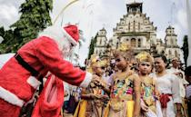 <p>Different regions of Indonesia have their own Christmas traditions. In Bali, the celebration is heavily influenced by Hinduism. Roads are decorated with yellow coconut leaves to symbolize the mythical Antaboga serpent. Their Christmas trees are also made from chicken feathers.</p>