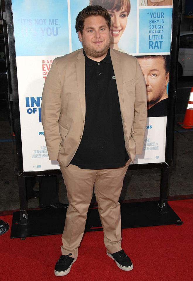 "<a href=""http://movies.yahoo.com/movie/contributor/1808716500"">Jonah Hill</a> at the Los Angeles premiere of <a href=""http://movies.yahoo.com/movie/1810022054/info"">The Invention of Lying</a> - 09/21/2009"