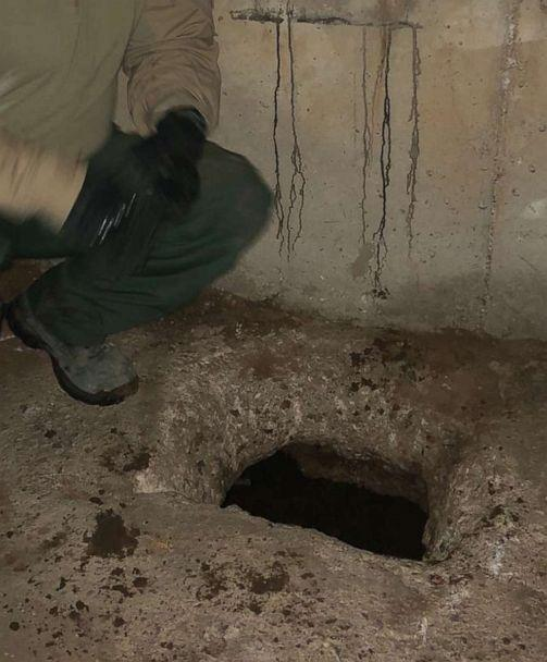PHOTO: Tucson Sector agents and Mexico's Guardia Nacional located the tunnel's entrance in the floor of the existing Grand Avenue drainage system in Mexico. (U.S. Border Patrol)