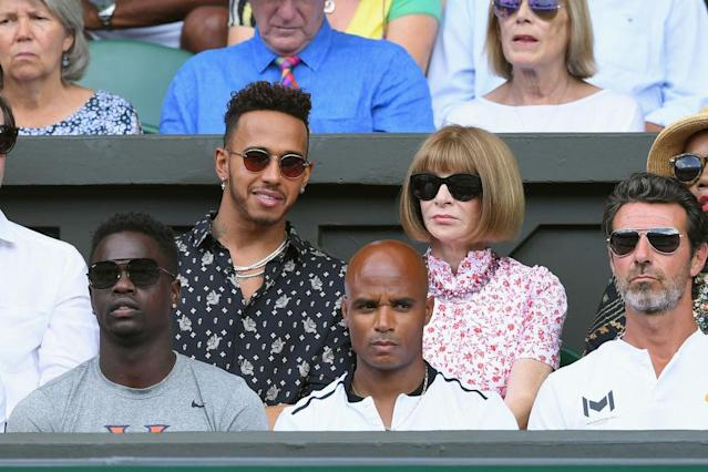 Lewis Hamilton and Anna Wintour (Photo: Getty Images)