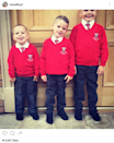 <p>The model shared this photo of her sons with ex-husband Jamie O'Hara: Archie, five, Harry, four, and George, three. Put your tongue away, George. <i>(Photo: Instagram)</i><br></p>