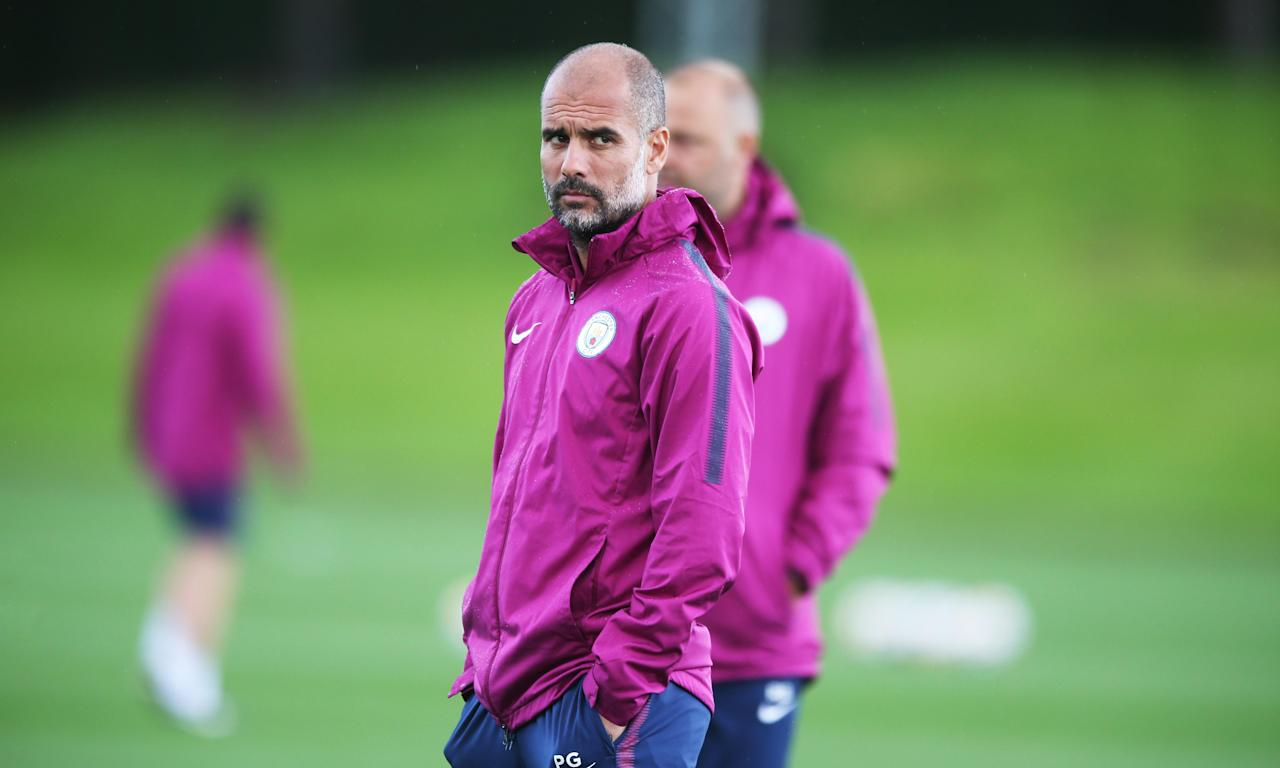 Against Brighton, Manchester City's manager Pep Guardiola solved his attacking conundrum by uncharacteristically playing two strikers.