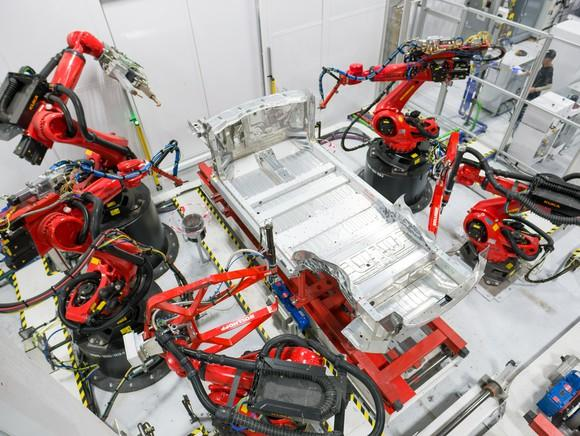 Tesla sub-assembly at the Fremont Factory