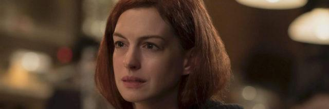 Image of actress Anne Hathaway looking upset.