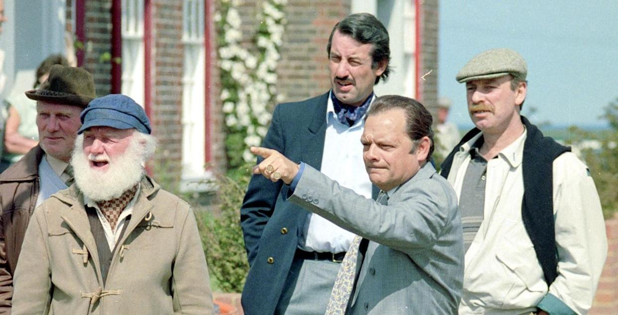 Only Fools and Horses stars David Jason, Buster Merryfield, John Challis and Denis Lill in 1989. (Getty Images)