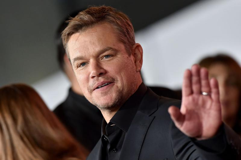 Matt Damon is quarantining just like the rest of us, but he's not at home. (Photo: Axelle/Bauer-Griffin/FilmMagic)