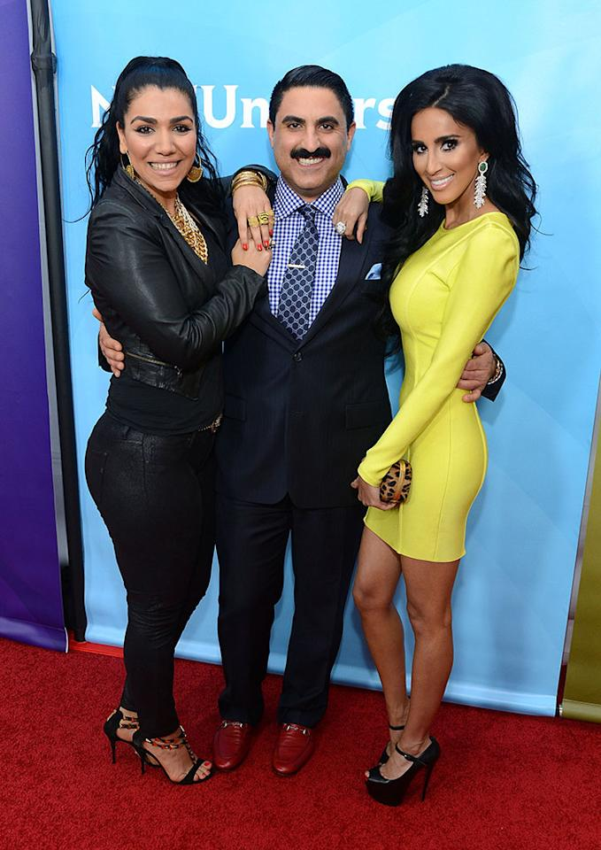 "Asa Soltan Rahmati, Reza Farahan and Lilly Ghalichi attend NBCUniversal's ""2013 Winter TCA Tour"" Day 2 at Langham Hotel on January 7, 2013 in Pasadena, California."
