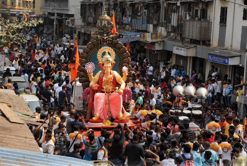 In view of Thackeray's plea, all Ganeshotsav Mandals in the state took a voluntary decision to restrict the height of Ganesha to less than four feet, first time in over four decades since the trend of gigantic idols started. (Image: PTI)