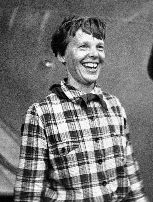 FILE - In this June 6, 1937, file photo, Amelia Earhart, the American airwoman who is flying round the world for fun, arrived at Port Natal, Brazil, and took off on her 2,240-mile flight across the South Atlantic to Dakar, Africa. (AP Photo,File)