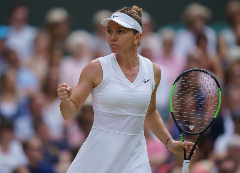 Wimbledon champion Halep is pain-free from foot injury