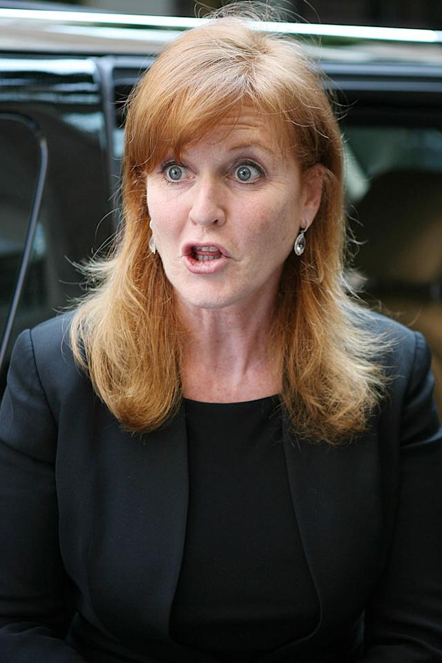 """Former British royal Sarah Ferguson found herself in a spot of bother this week after she was caught on tape accepting cash from an undercover journalist from British tabloid <i>News of the World</i> in exchange for access to her ex-husband, Prince Andrew, Britain's special representative for international trade and investment. The reportedly broke former Weight Watchers spokeswoman was spotted leaving her hotel in New York City Wednesday. <a href=""""http://www.infdaily.com"""" target=""""new"""">INFDaily.com</a> - May 26, 2010"""