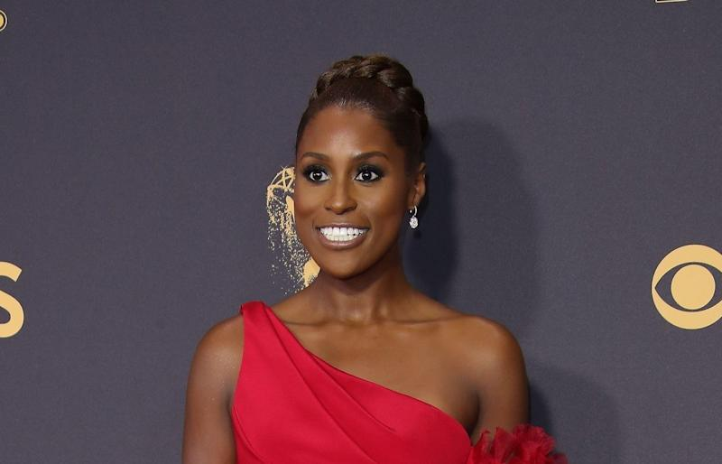 Issa Rae arrives at the 69th Annual Primetime Emmy Awards at Microsoft Theater on September 17, 2017 in Los Angeles, California.